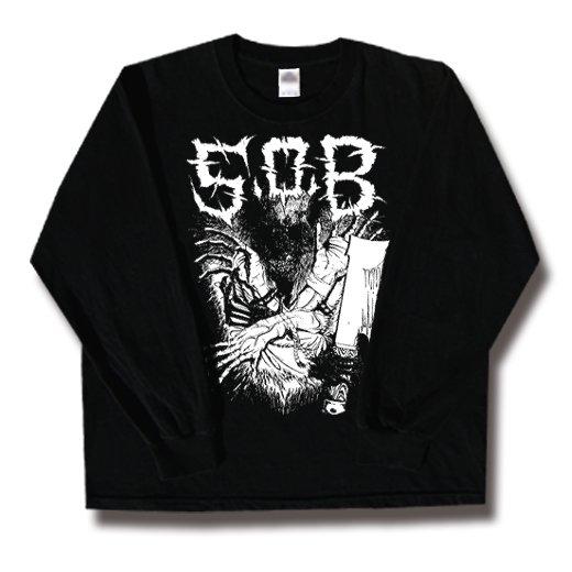 S.O.B. / エス・オー・ビー - Hands. ロングスリーブTシャツ【お取寄せ】