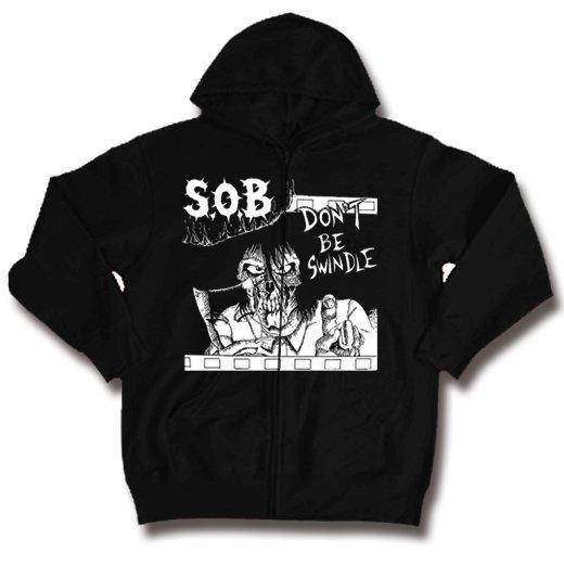 S.O.B. / エス・オー・ビー - Thrash Night. ジップアップパーカー【お取寄せ】