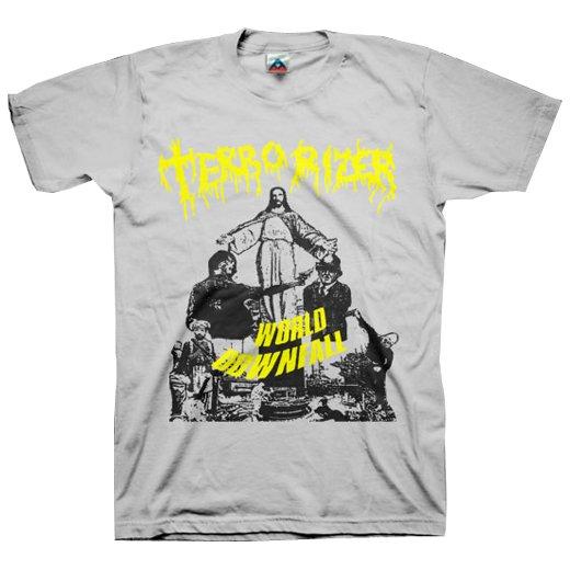 Terrorizer / テロライザー - World Downfall (Silver). Tシャツ【お取寄せ】
