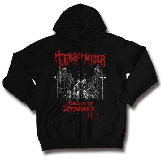 Terrorizer / テロライザー - Hordes of zombies. ジップアップパーカー【お取寄せ】