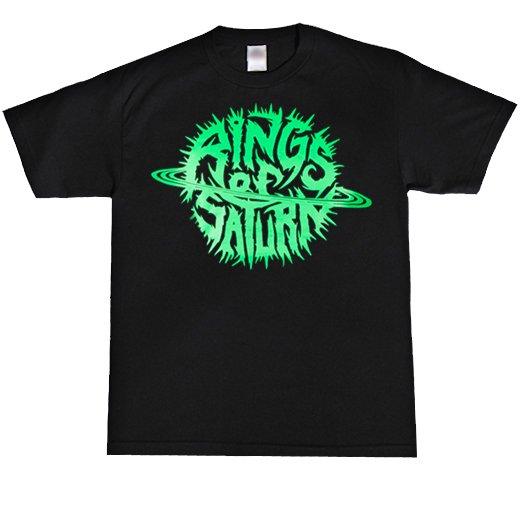 Rings Of Saturn / リングス・オブ・サターン - Glow Logo (Green). Tシャツ【お取寄せ】