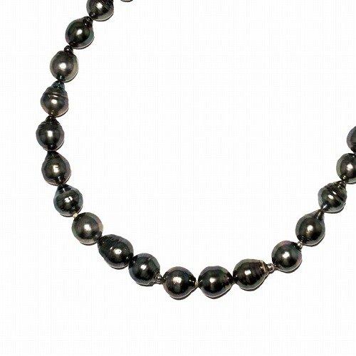 タヒチ黒蝶真珠9.6-12.1mmバロックネックレス