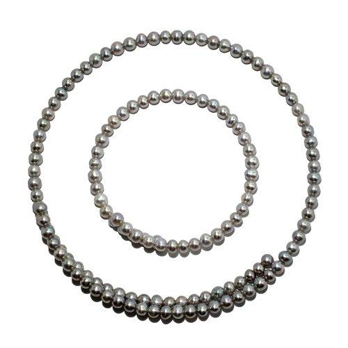 淡水真珠のネック&ブレス2点セット