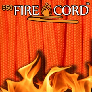 Live Fire Gear 550 Fire Cord セーフティーオレンジ