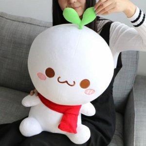 長草くんぬいぐるみ(かわいい表情・座姿45cm)