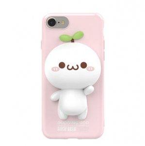 長草くん 立体スマホカバー iPhone7(ピンク)