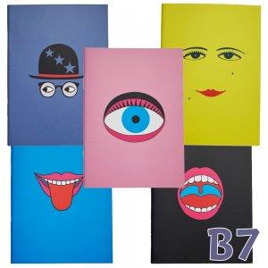 横尾忠則 B7 アートノート 5冊セット「顔」