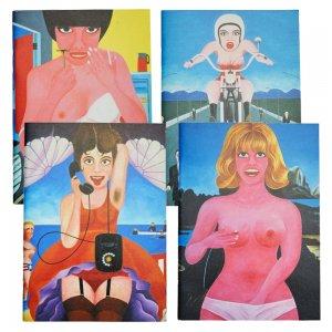 横尾忠則 B7 アートノート 4冊セット 「ピンクガールズ」