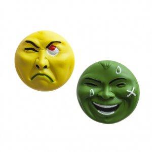 横尾忠則 アート立体バッジ 泣き笑い人生 2個セット イエロー/グリーン