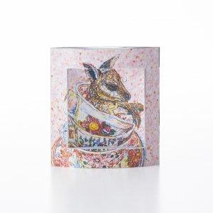 ピアスのガクブチ × 横尾美美 「 Baby wallaby dans Tasses 」