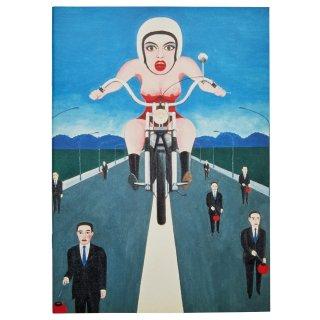 横尾忠則 A4アートスケッチノート:オートバイ
