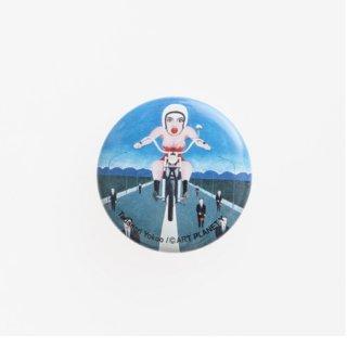 横尾忠則 アートカンバッジ:オートバイ 小