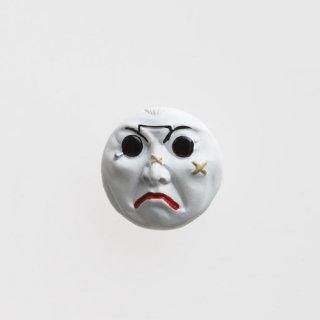 横尾忠則 アート立体バッジ「泣き笑い人生」:ホワイト