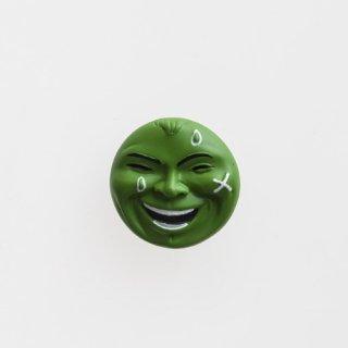 横尾忠則 アート立体バッジ「泣き笑い人生」:グリーン