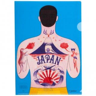 横尾忠則 アートクリアファイル:タトゥーマン カラー