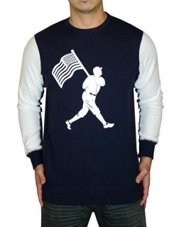 <img class='new_mark_img1' src='//img.shop-pro.jp/img/new/icons55.gif' style='border:none;display:inline;margin:0px;padding:0px;width:auto;' />Flag Man Navy White Crew