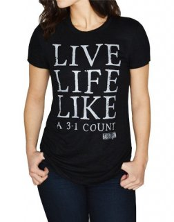 Live Life Like a 3-1 Count - Women's Perfect Fit Tee (Black)