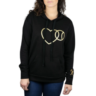 <img class='new_mark_img1' src='https://img.shop-pro.jp/img/new/icons14.gif' style='border:none;display:inline;margin:0px;padding:0px;width:auto;' />Love Baseball Women's Hoodie - Black