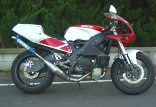 TZR250R<br />ドッグファイト<br />ステンレスチャンバー<br />アルミ<br />