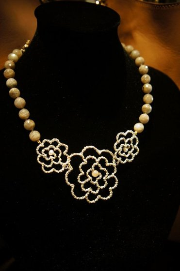 Camelia Necklace(ネックレス)[CL 5403 OTAGLabradrite/Pearl