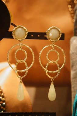 Chandelier Model       Earrings(  イヤリング     )      OR1093 OTAG NewJade オーダー商品