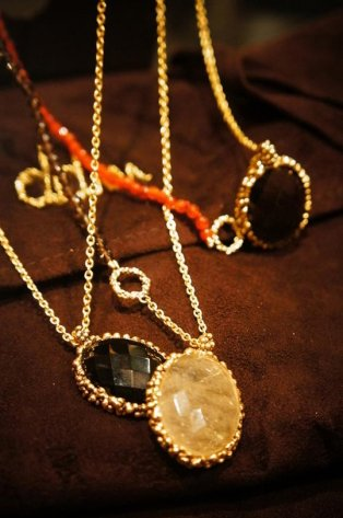 Ricordi Collection Necklace(ネックレス)[CL5496 OTBR Q.fume/Corniolaオーダー商品