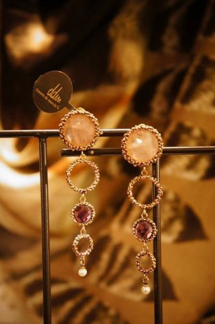 Contamination Model Earrings/Pieces(イヤリング/ピアス)OR1141 OTVIO Q.Rosa/Amesist/Pearl