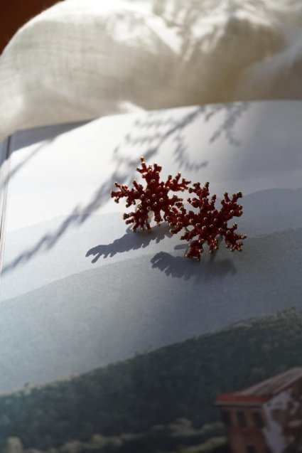 Big Coral Pieces(ピアス)[OR1002 OTRO] with Pearl