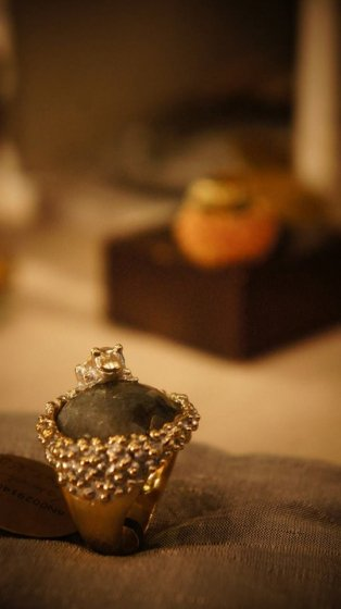 Classic Ring w frog design (リング)[AN029 OTAG Labradotrite]オーダー商品