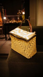 JOJO Ipponte HandBag Calista Yellow/White 受注生産