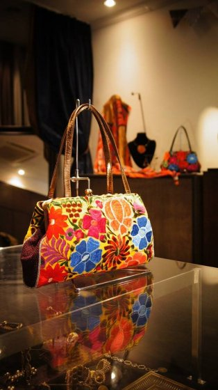 JOJO Bambooafuri HandBag Colorful  1点物