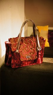 JOJO SWALLOW HandBag Colaris WineRedPurple