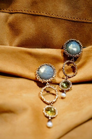 Contamination Model Earrings/pieces(イヤリング/ピアス)short版OR1144 OTBR Q.Fume/NewJade/Pearl