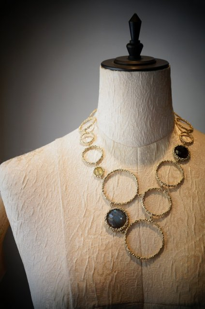 Contamination Necklace(ネックレス)[CL 5466 OTAG Labradorite/NewJade/Smoky.Q