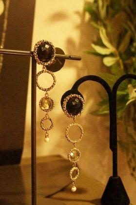 Contamination Model Earrings/Pieces(イヤリング/ピアス)OR1141 OTBR Smoky.Q/Lemon.Q/Pearl