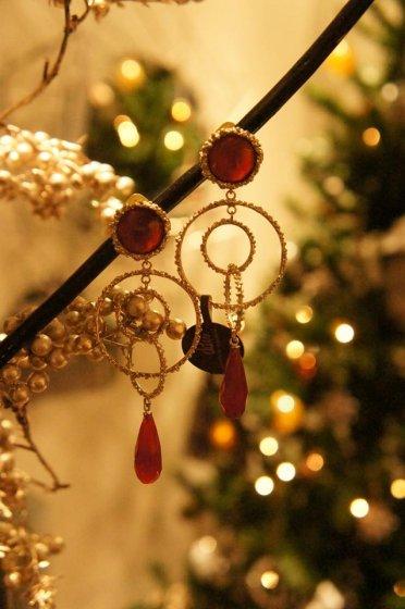 Chandelier Model       Earrings(  イヤリング     )        OR1093 OTAG Corniola