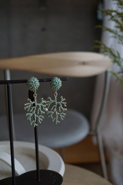 Coral Earrings/Pieces(イヤリング/ピアス)[OR1072 OTTURK】
