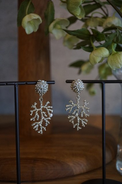 Coral Earrings/Pieces(イヤリング/ピアス)[OR1072 OTAG】