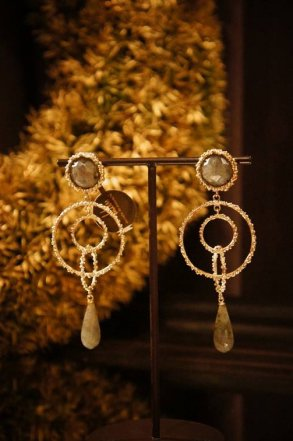 Chandelier Earrings/Pieces(イヤリング/ピアス)[OR1093 OTAG Labradorite]