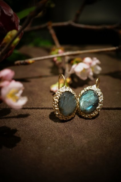 Ricordi Pieces(ピアス)[OR 1195 OTAG Labradorite]