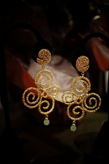 Ghirigori     Collection    Earrings イヤリングOR1186BIS OTDO Avventurina