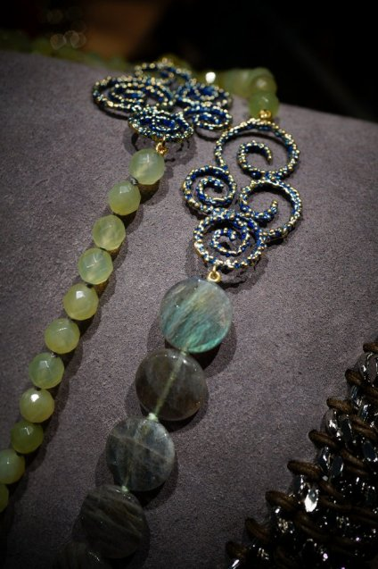 Ghirigori Collection Long Necklace(ネックレス)[CL5493 OMI Labradorite/NewJade]