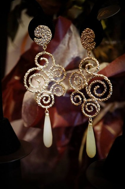 Ghirigori     Collection    Earrings イヤリングOR1188 OTAG NewJade