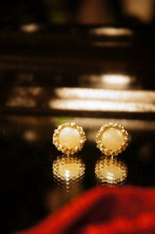 Small Crown Earrings (イヤリング)[OR1060 OTAG NewJade]