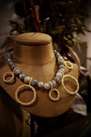 Sweet&sour Round Necklace (ネックレス)CL5576 OTDO Labradorite
