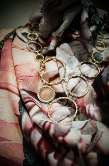 Contamination  Necklace(ネックレス)[CL 5466 OTAG Rosa.Q/Labradlite/Smoky.Q