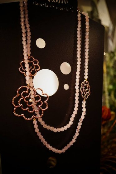 Camelia LongNecklace(ネックレス)[CL 5404 OTVIO Rosa.Q/Pearl