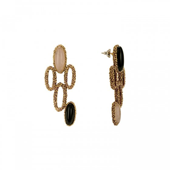 ZEN collection Earrings(イヤリング)[OR1300 OTVIO Smoky.Q/Rosa.Q