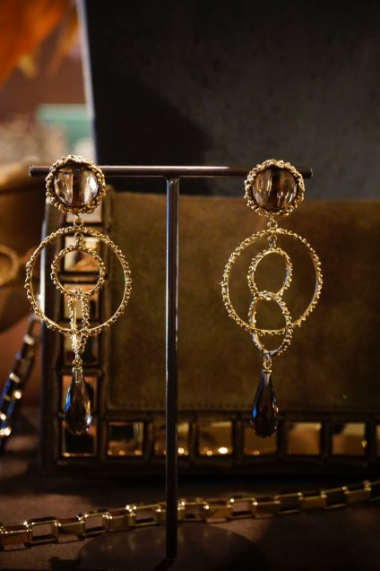 Chandelier Eariings(イヤリング)[OR1093 OTBR Q.Fume]