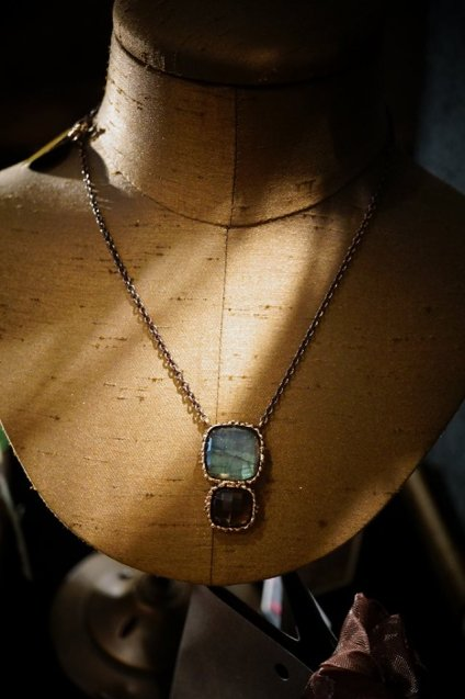 Scacco(チェス)Collection Necklace(ネックレス)[CL5593 BZBR Labradorite/Smoky.Q]